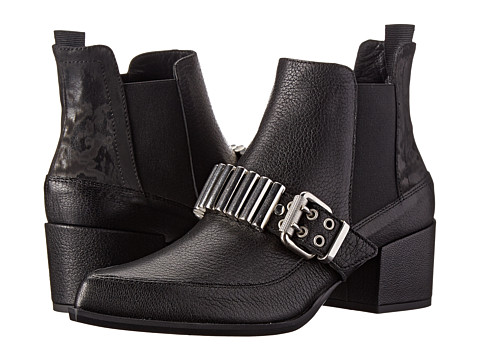 McQ - Metal Bar Chelsea Boots (Black Leather) Women