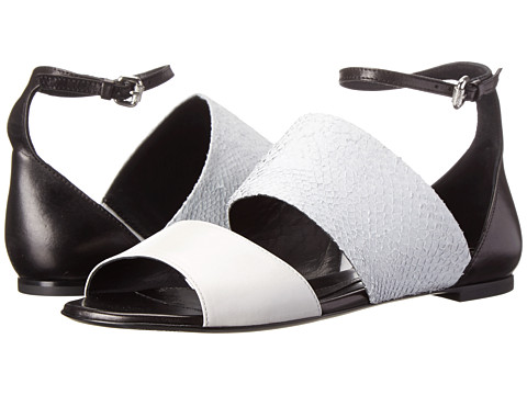 McQ - Erin Flat Strap Sand (Off White Salmon/Nappa Leather Mix) Women