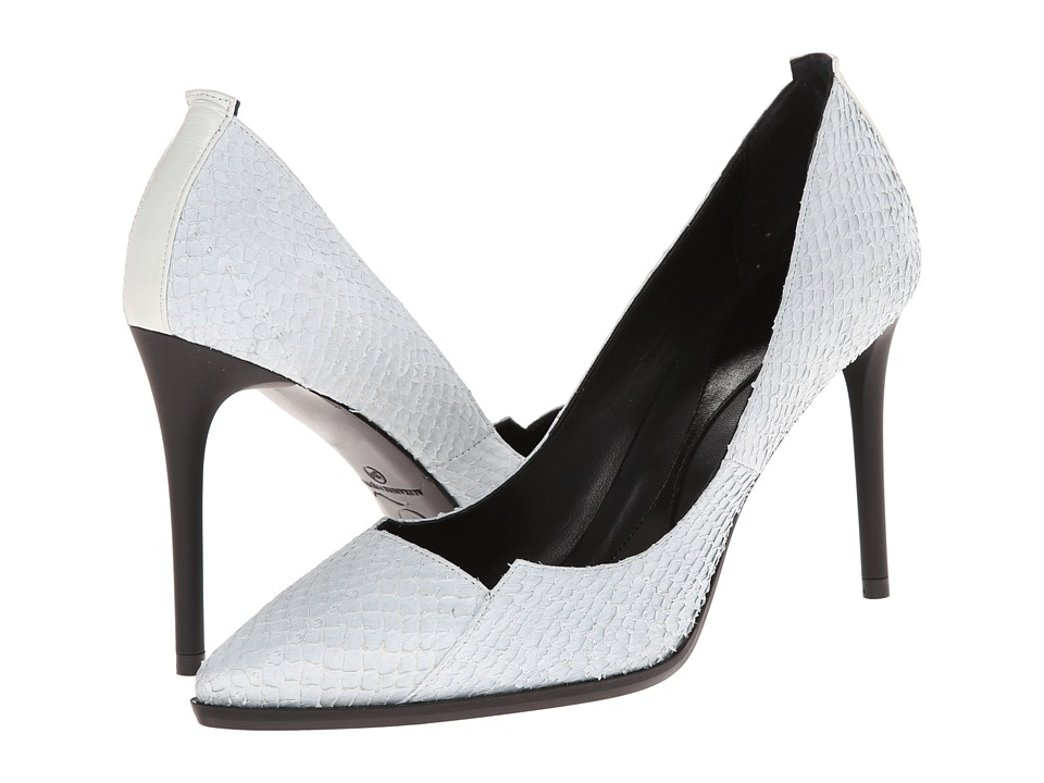 McQ Lex Biker Pump 90 (Off White Salmon/Nappa Leather Mix) High Heels