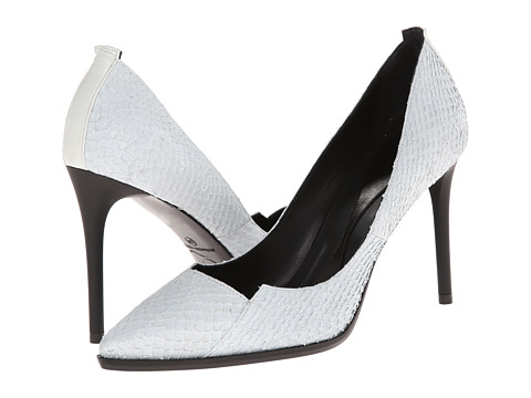 McQ - Lex Biker Pump 90 (Off White Salmon/Nappa Leather Mix) High Heels