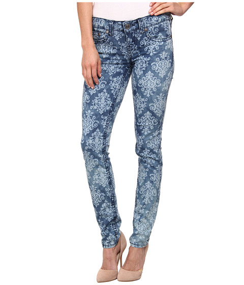 Request - Bleached Out Print Jeans in Wave Damask (Wave Damask) Women's Jeans