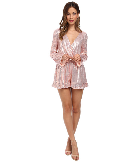 Brigitte Bailey - Hannah Sequin Romper (Rose Gold) Women's Jumpsuit & Rompers One Piece