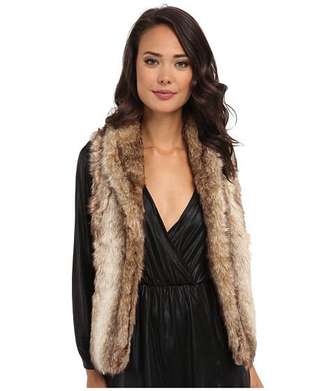 Brigitte Bailey - Susan Faux-Fur Vest (Tan) Women's Vest
