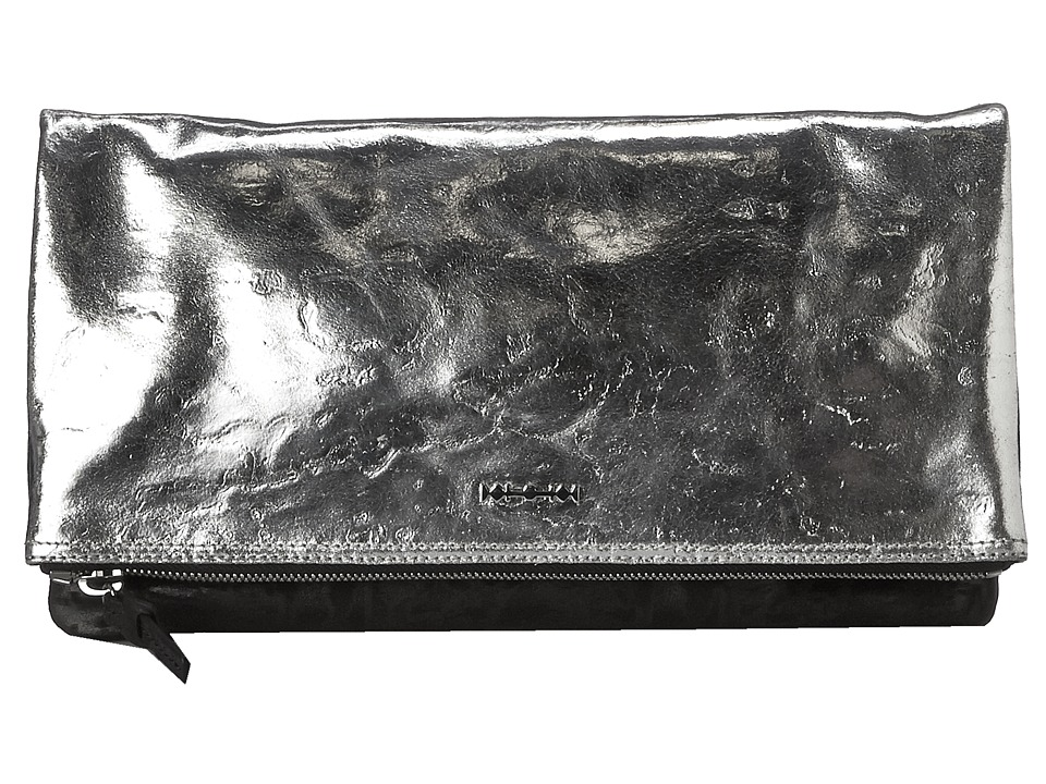 McQ - Fold Clutch (Silver/Dark Black) Clutch Handbags