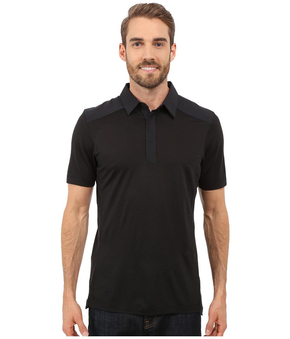 Arc'teryx - A2B Polo Shirt (Black) Men's Short Sleeve Pullover