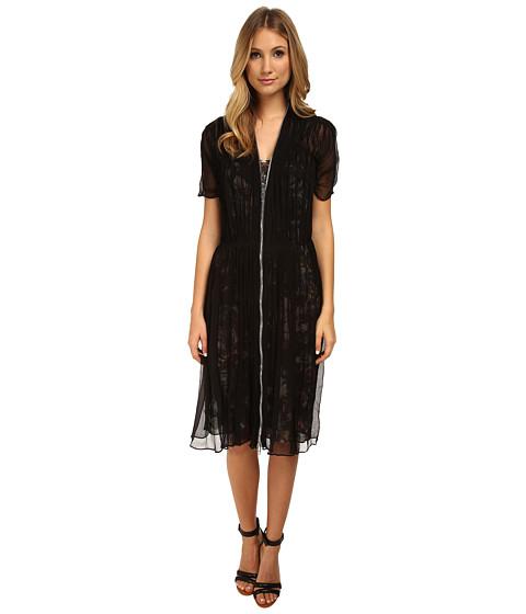 McQ - Shirred Zip Dress (Black) Women's Dress