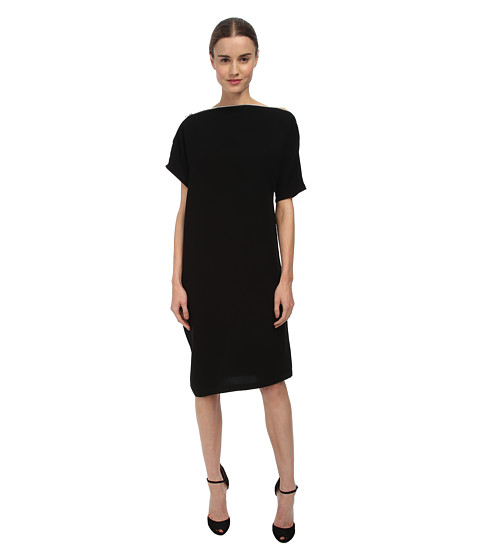 McQ - Long S Bend Zip Dress (Black) Women's Dress
