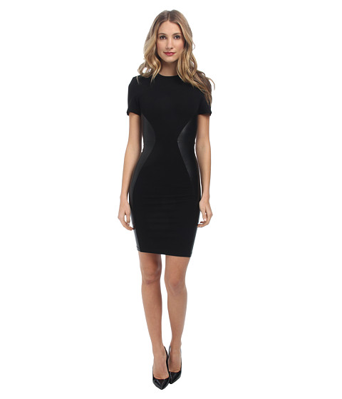McQ - Mesh Contour Dress (Darkest Black) Women's Dress