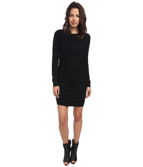 McQ - Crew Neck Dress (Darkest Black) Women's Dress