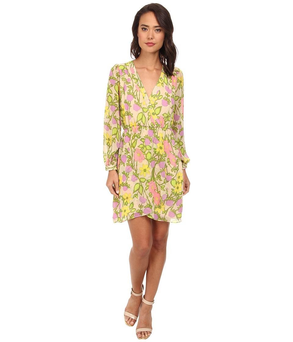 Brigitte Bailey - Demri Lux Dress (Olive Floral) Women's Dress