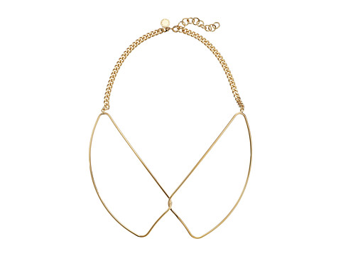 Marc by Marc Jacobs - Locked In Orbit Foil Gem Collar Necklace (Oro) Necklace