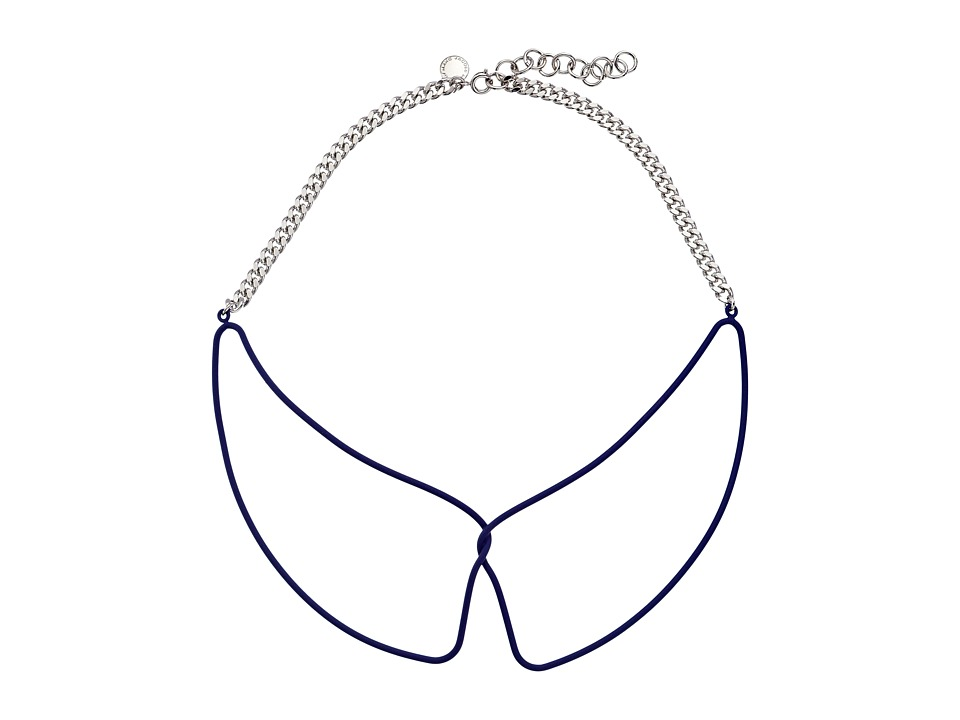 Marc by Marc Jacobs - Key Items Rubberized Wireframe Collar Necklace (Mineral Blue) Necklace