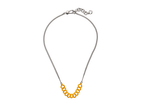 Marc by Marc Jacobs - Link To Katie Rubberized Delicate Necklace (Yellow Jacket) Necklace