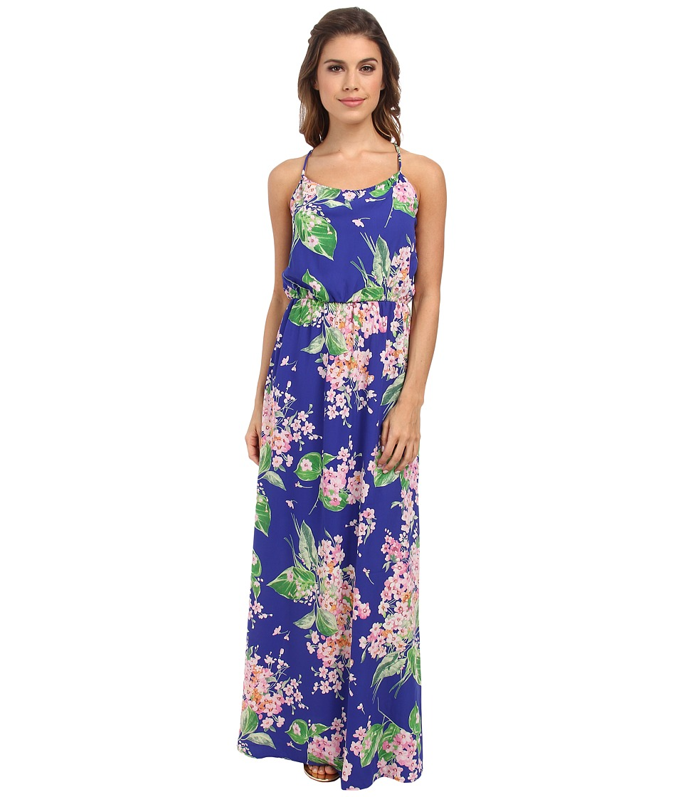 Brigitte Bailey - Fleur Dress (Blue Flower) Women's Dress
