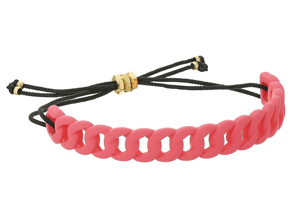 Marc by Marc Jacobs - Key Items Rubberized Solidly Linked Friendship Bracelet (Bright Rose) Bracelet