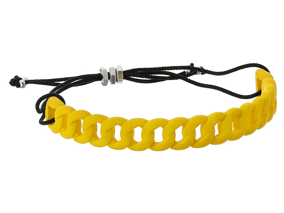Marc by Marc Jacobs - Key Items Rubberized Solidly Linked Friendship Bracelet (Yellow Jacket) Bracelet