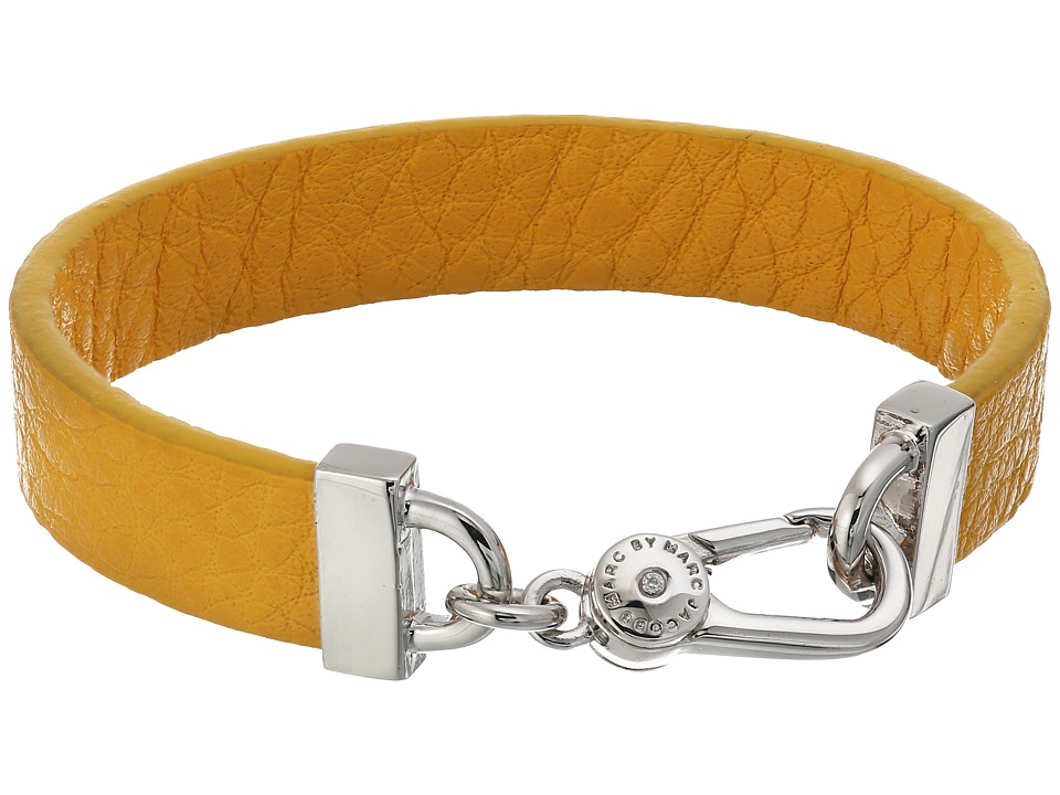 Marc by Marc Jacobs - Key Items Simple Leather Bracelet (Yellow Jacket) Bracelet