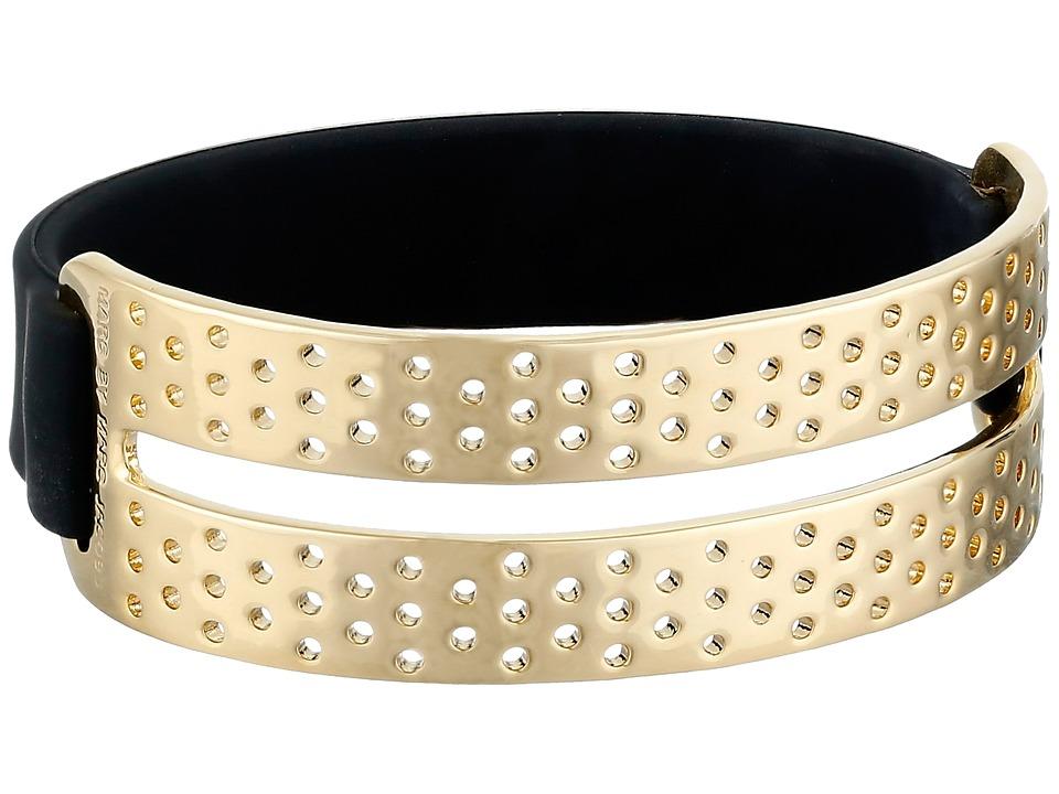 Marc by Marc Jacobs - Key Items Perf-Ection Rubber Bracelet (Black/Oro) Bracelet