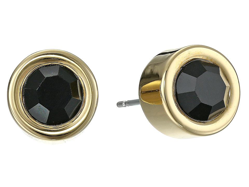 Marc by Marc Jacobs - Locked In Orbit Tiny Orbit Studs Earrings (Black/Oro) Earring