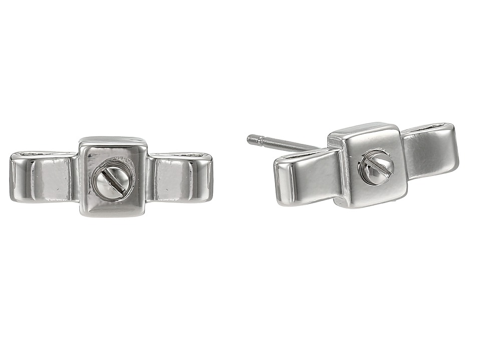 Marc by Marc Jacobs - All Tied Up Bow Tie Stud Earrings (Argento) Earring