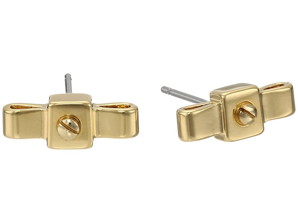 Marc by Marc Jacobs - All Tied Up Bow Tie Stud Earrings (Oro) Earring