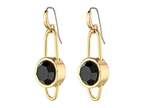 Marc by Marc Jacobs - Locked In Orbit Orbit Earrings (Black/Oro) Earring
