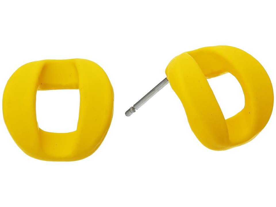 Marc by Marc Jacobs - Link To Katie Rubberized Studs Earrings (Yellow Jacket) Earring