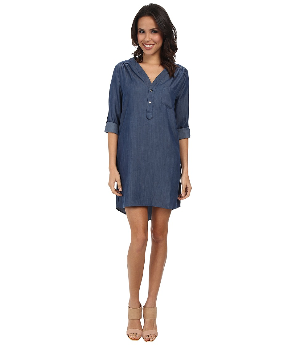 Christin Michaels - Linnea Shirt Dress (Denim) Women's Dress