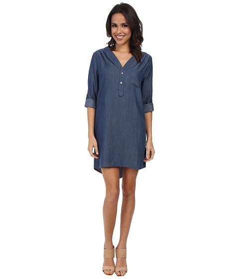 Christin Michaels - Linnea Shirt Dress (Denim) Women's Dress