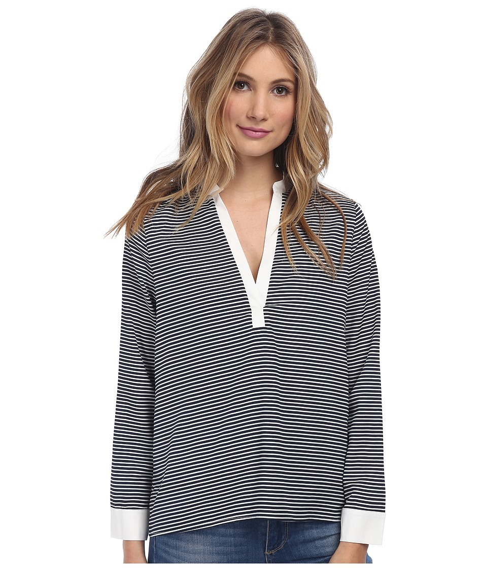 Christin Michaels - Sophie Blouse (Navy/White Stripe) Women