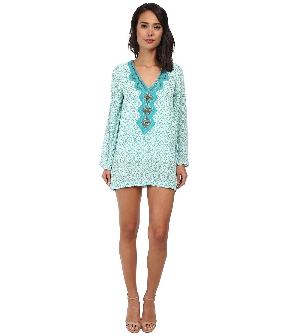 Christin Michaels Delphine Dress (Turquoise) Women