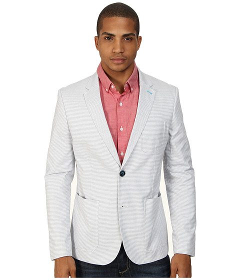 Original Penguin - Club Blazer Oxford Stripe (Bright White) Men