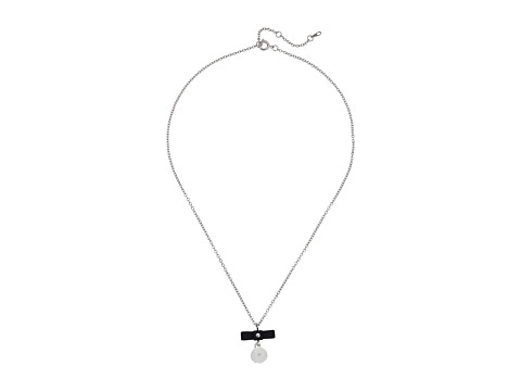 Marc by Marc Jacobs - All Tied Up Charmed Bow Tie Pendant (Black/Argento) Necklace