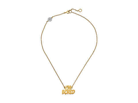 Marc by Marc Jacobs - Key Items I'm Bored Nameplate Pendant (Oro) Necklace