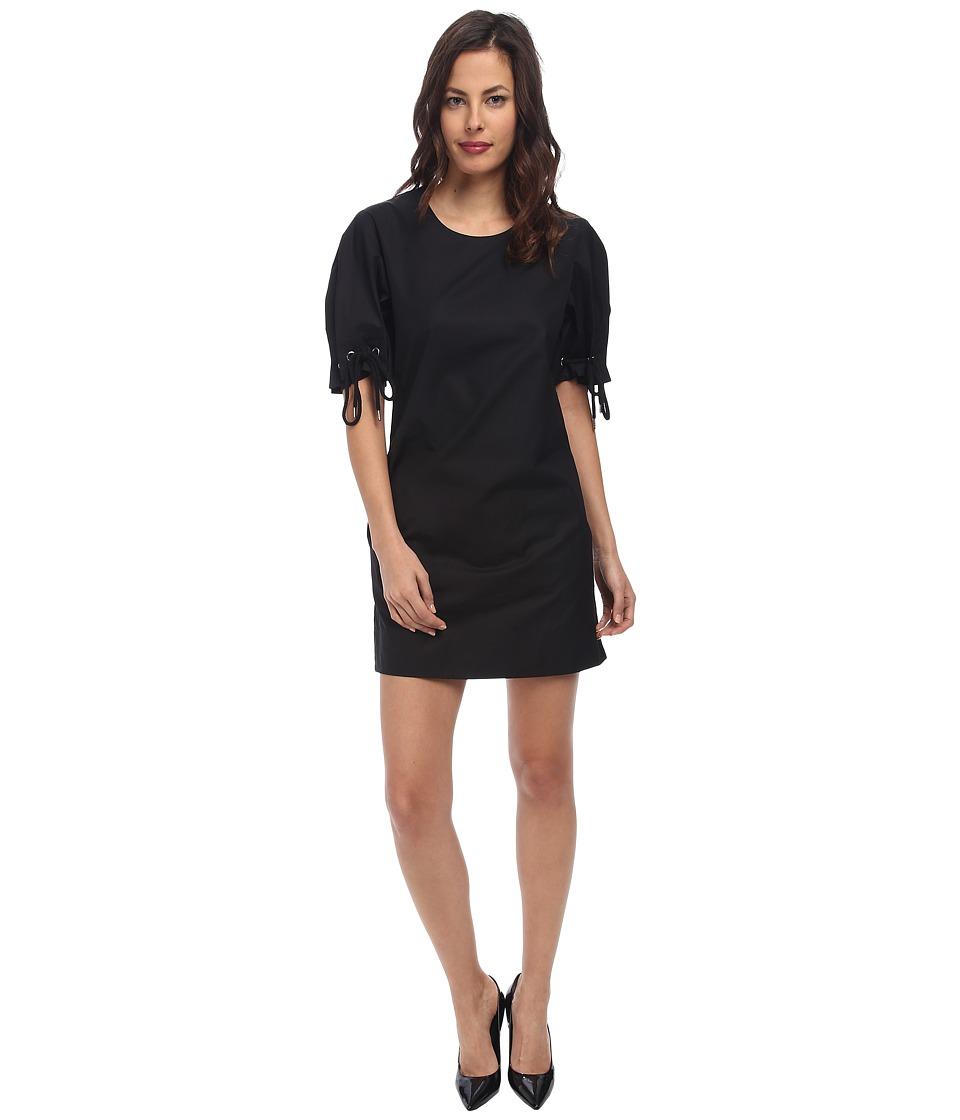 See by Chloe Tie Short Sleeve Dress (Black) Women