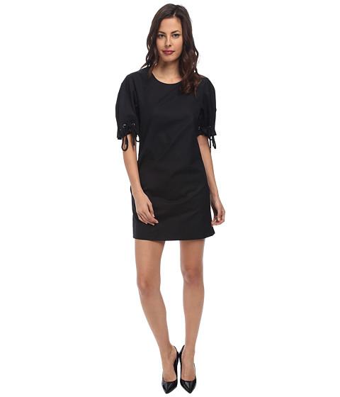 See by Chloe - Tie Short Sleeve Dress (Black) Women's Dress