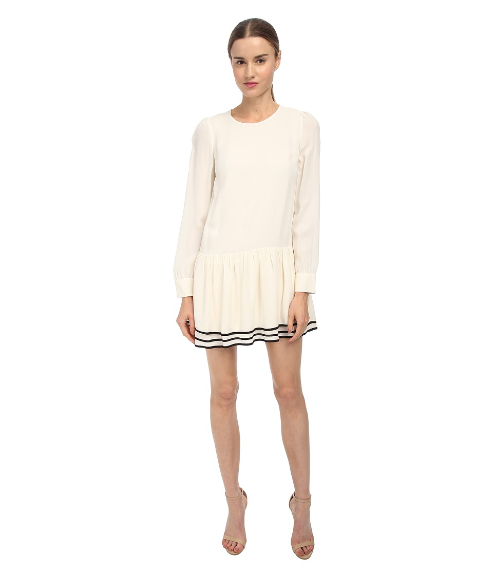 See by Chloe - L/S Dress (Cream/Black) Women's Dress