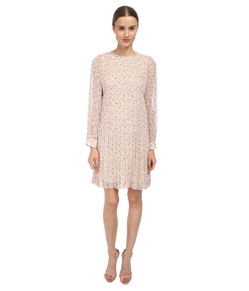 See by Chloe - L/S Pleat Dress (Multi) Women's Dress