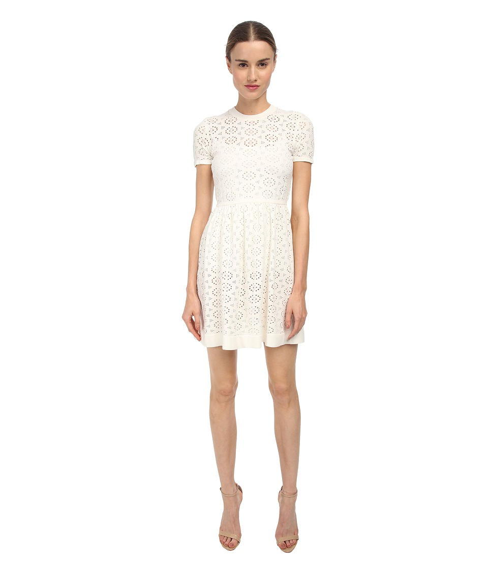 See by Chloe - Elastic Waist S/S Dress (White) Women's Dress
