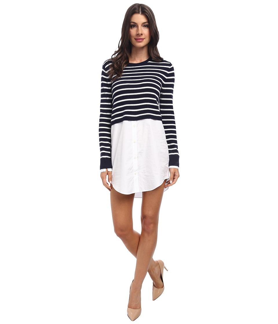 Theory - Rymalia S. Dress (True Navy/Ivory) Women