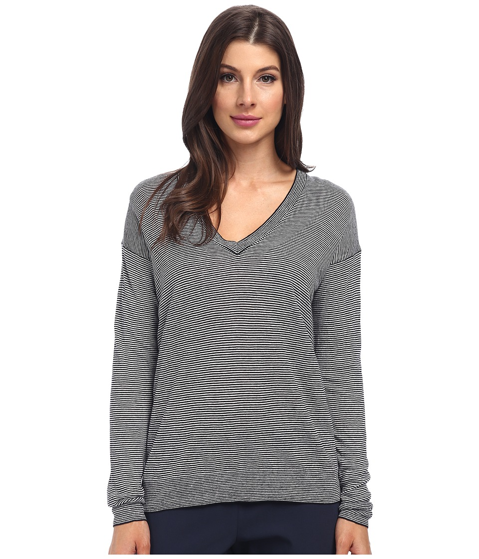 Theory - Trulinda B. Sweater (Navy/White) Women