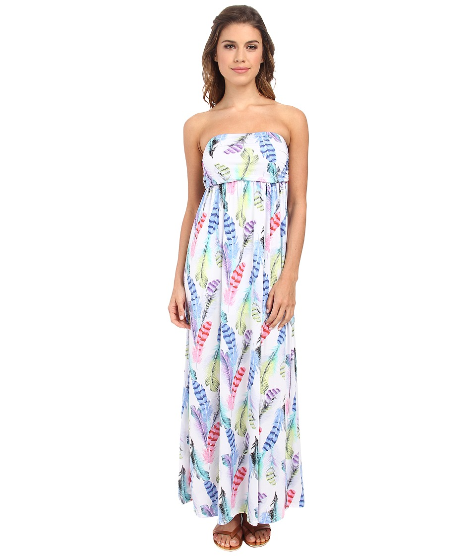 Culture Phit - Holly Strapless Dress (White Feather) Women's Dress