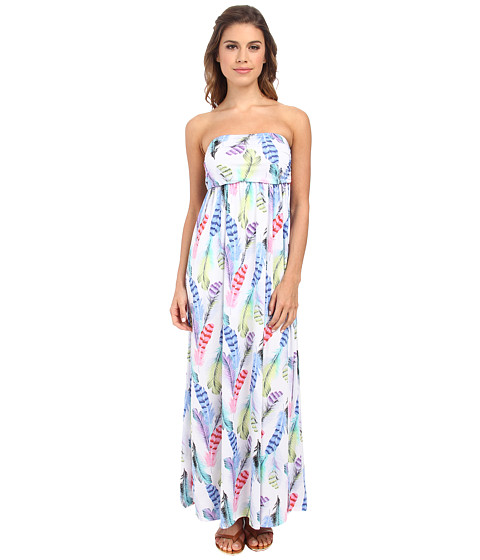 Culture Phit - Holly Strapless Dress (White Feather) Women