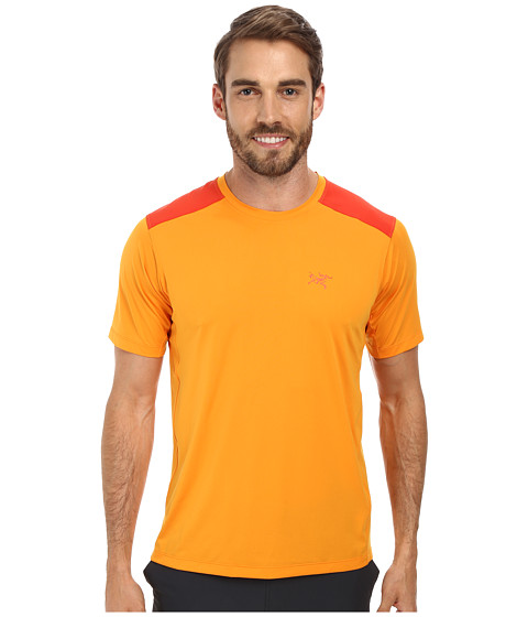 Arc'teryx - Ether Comp Crew S/S (Fire Water) Men's Short Sleeve Pullover