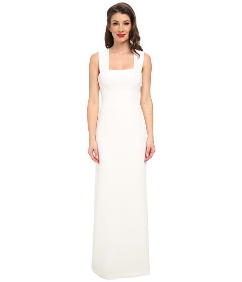 BCBGMAXAZRIA - Agata Woven Evening Dress (Off White) Women