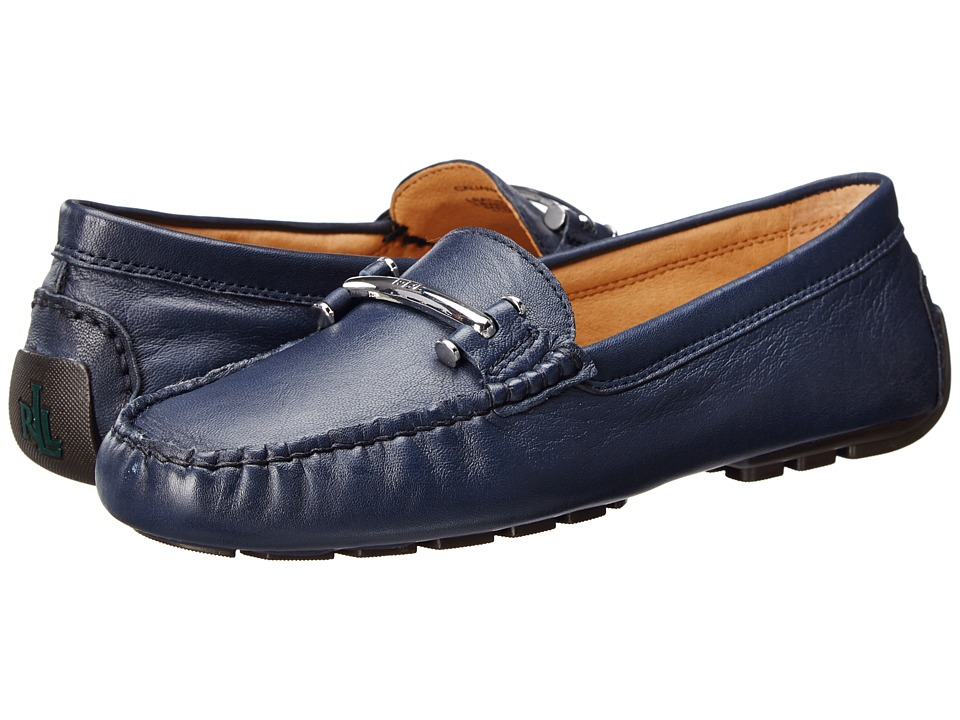 LAUREN Ralph Lauren - Caliana (Modern Navy Nappa) Women's Slip on Shoes