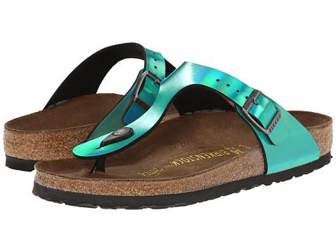 Birkenstock - Gizeh (Mirror Green Birko-Flor ) Sandals