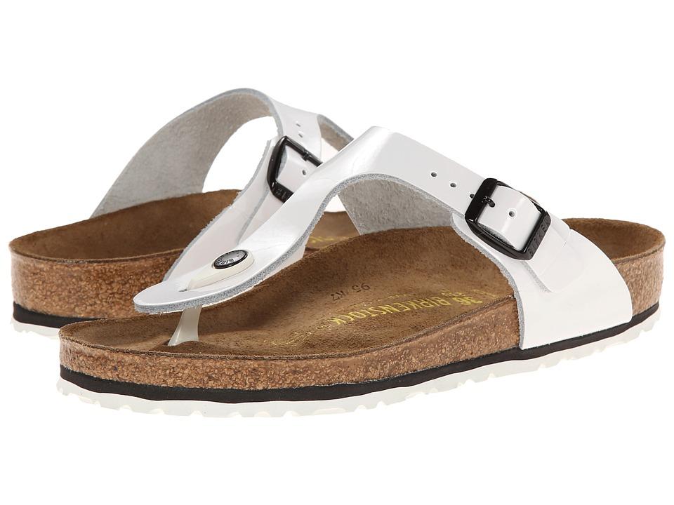 Birkenstock - Gizeh (Bright White Patent) Sandals