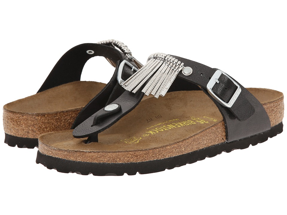 Birkenstock - Gizeh Fringe (Graceful Licorice Birko-Flor ) Sandals