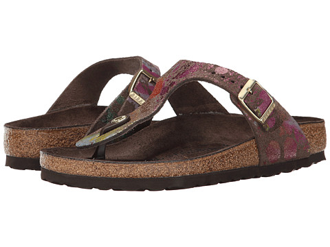 Birkenstock - Gizeh (Flower Crush Mocha Suede) Sandals